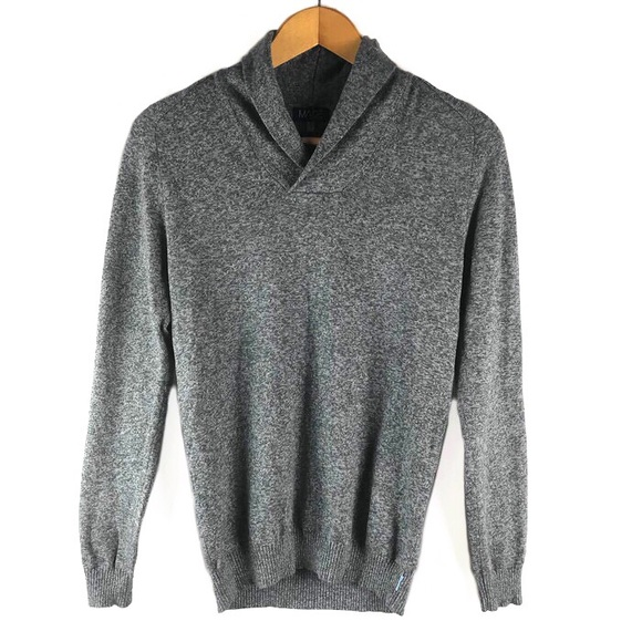 new style 6e014 6ad11 Made By Cam Newton Gray Shawl Collar Sweater